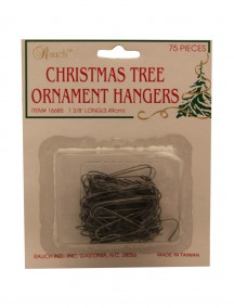 Christmas Tree Ornament Hangers 75ct - Silver