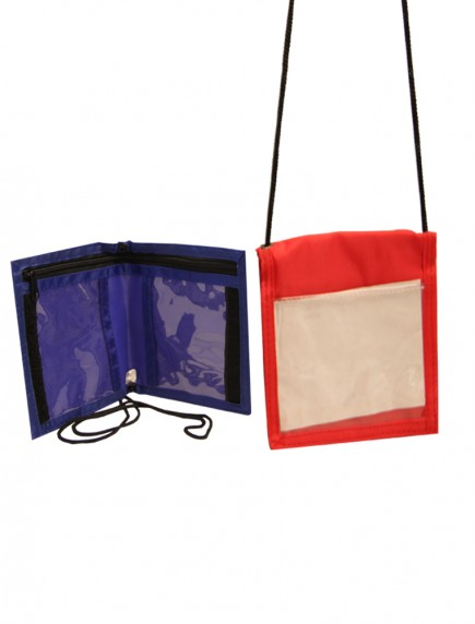 ID Holder with Neck Strap - Assorted Colors