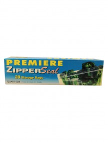 Premiere Zipper Seal Storage Bags 20 ct - Quart Size