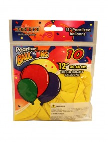 Helium Balloons 12 inch - Assorted Colors & Designs