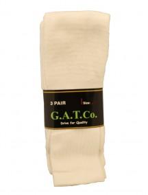 White Tube Socks 3 pk - Assorted Sizes