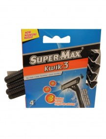 Super-Max Kwik 3 Shavers for Men 3 pk
