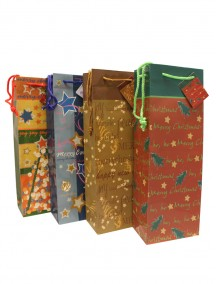 Wine Gift Bags - Assorted Christmas Designs