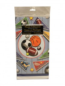 Table Cover 54 in x 84 in - Sports Pennants