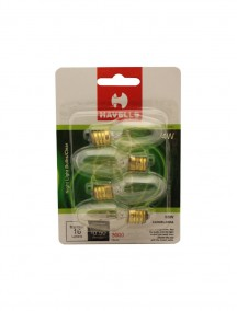 Havells Clear Night Light Bulbs 4 pk