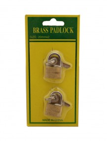 Brass Padlock 20 mm 2 pc