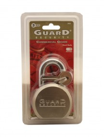 Guard Security Commercial Grade Stainless Steel Padlock with 3 Keys