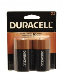 Duracell D Batteries 2 pk
