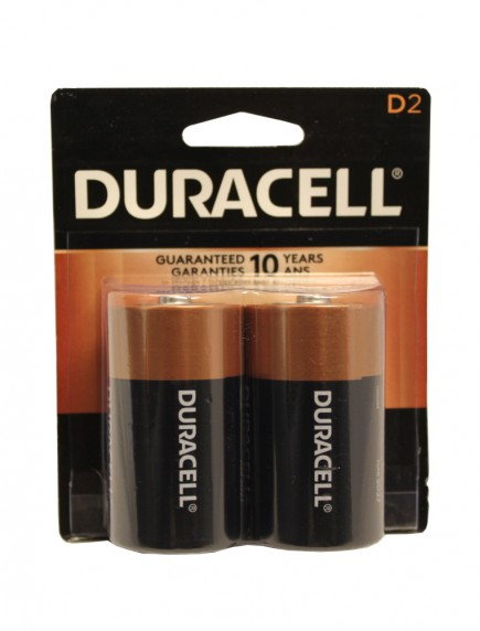 Duracell D Batteries 2 pk
