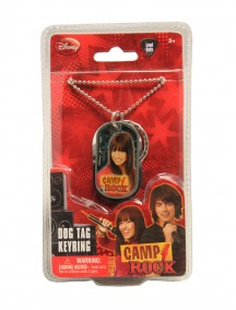 Camp Rock Dog Tag Keyring