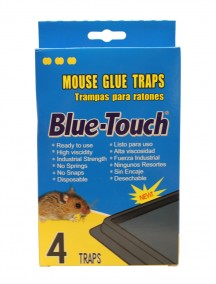 Blue Touch Small Mouse Glue Trap with Peanut Scent 4 ct