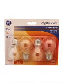 GE Light Bulbs 40w 4 pk - Crystal Clear