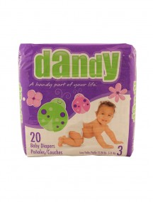 Dandy Baby Diapers 20 ct Size 3