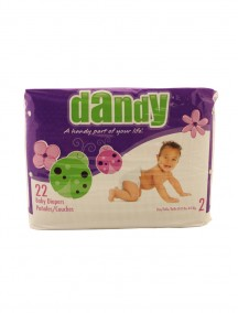 Dandy Baby Diapers 22 ct Size 2