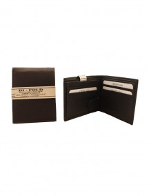 Bi-Fold Leather Wallet - Assorted Colors
