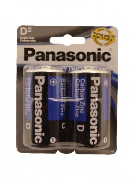 Panasonic D Batteries 2 pk