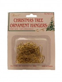 Christmas Tree Ornament Hangers 75 ct - Gold
