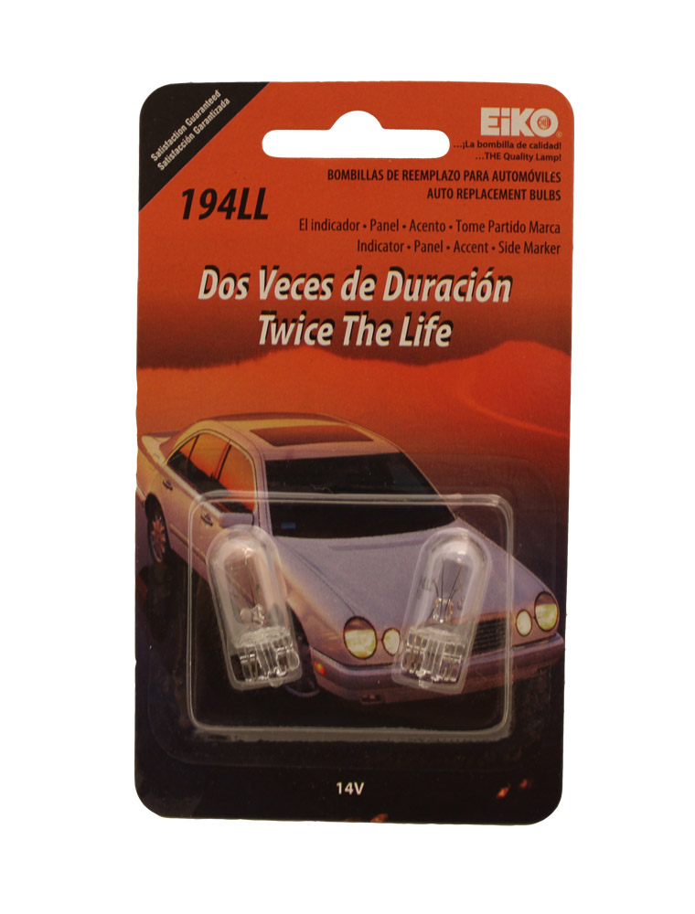 Eiko Auto Replacement Bulbs 14v 2 Ct 194ll