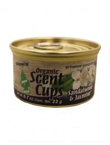 Little Trees Organic Scent Cups 0.7 oz Air Freshener - Sandalwood & Jasmine