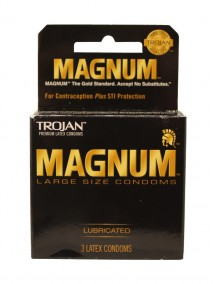 Trojan Magnum Lubricated Condoms 3 ct
