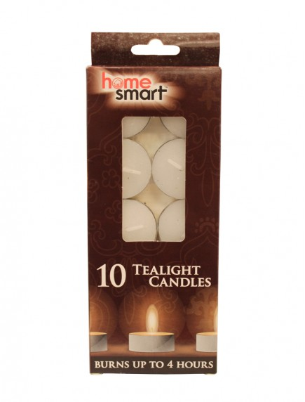 Home Smart Tealight Candles 10 ct - White