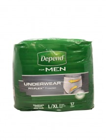 Depend For Men Underwear with Fit-Flex Protection 17 ct Size L/XL