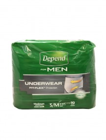 Depend For Men Underwear with Fit-Flex Protection 19 ct Size S/M