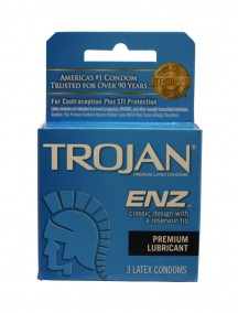 Trojan ENZ Premium Lubricated Latex Condoms 3 ct