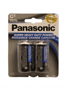 Panasonic C Batteries 2 pk