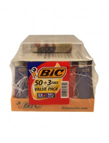 BIC Classic Lighters 50 ct  + 3 Free Special Edition Lighters