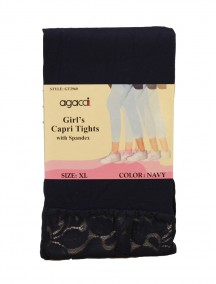 Agacci Girl's Capri Tights with Spandex - Assorted Colors & Sizes