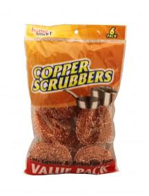 Home Smart Copper Scrubbers 6 ct