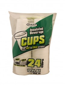 Dart Insulated Beverage Cups 12 oz 24ct