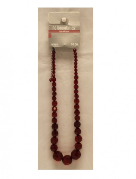 No Boundaries Bead Necklace - Red
