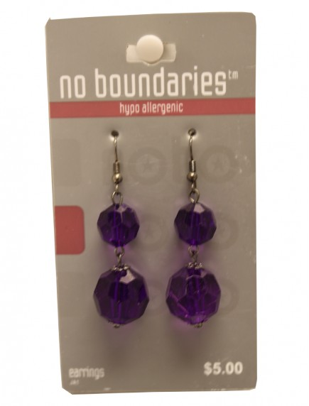 No Boundaries Bead Earrings - Purple