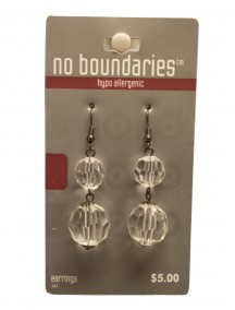 No Boundaries Bead Earrings - Clear