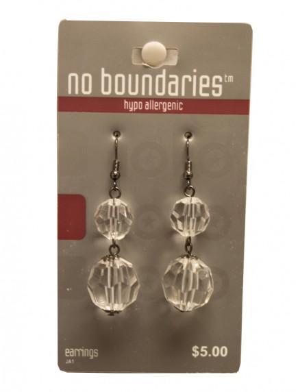 No Boundaries Bead Earrings - Clear