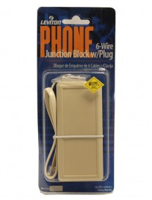 Phone 6 Wire Junction Block with Plug