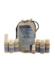 Thin To Thick Hair & Scalp Therapy & Men's Line Face, Beard & Skin Therapy 7 pc Traveler's Pack
