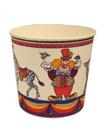 Paper Bucket 6.5 in x 7 in - Circus