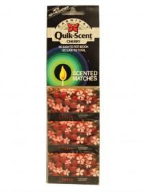 Quik-Scent 3 pk Scented Matches - 40 ct Per Book - Cherry Scent