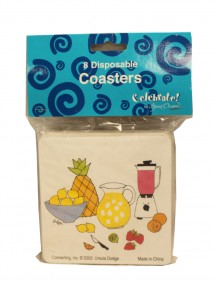 Disposable Coaster 8 ct - Tropical Drink
