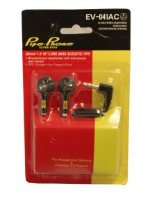 Pipe-Phone Super Bass Stereo Headphones - Black EV-041AC