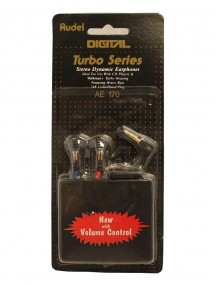 Digital Turbo Series Stereo Dynamic Earphones - Black AE170