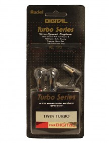 Digital Turbo Series Stereo Dynamic Earphones Twin Turbo - Black AE170
