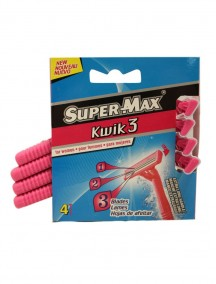 Super-Max Kwik 3 Shavers for Women 4 pk