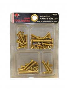 Handi Tool Works 60 pc Brass Screws & Nuts Assorted