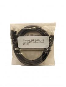 Ethernet HDMI Cable 10 ft 1.4V - Black