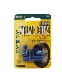 Colored Valve Caps 1 1/4 in to 1 1/2 in - Blue