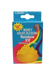 Money House Blessing Incense Cones 22ct - Rainbow
